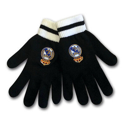 Real Madrid Fc Club Crest Knitted Adult Hand Gloves Winter Season New Xmas Gift