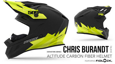 2018- 509 Altitude Carbon Fiber Snowmobile Helmet Chris Burandt 509-Hel-Acc8-3Xl