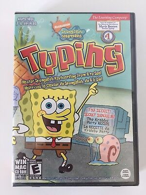 The Learning Company SpongeBob Squarepants Typing PC New Sealed