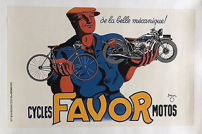Original Vintage Poster Favor Cycles Motos by Bellenger 1937