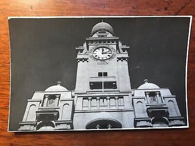 KMC Clock, Karachi British India 1940s RP Postcard Ref046