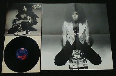 T Rex - Tanx - Rare Original Uk Emi Vinyl Lp With Poster Marc Bolan Ex Con