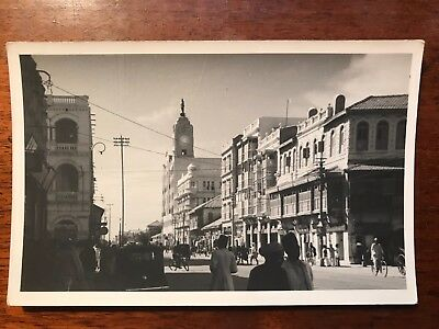 Bundar Road , Karachi British India 1940s RP Postcard Ref046
