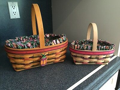 Longaberger: Large and Small 1997 Easter Baskets