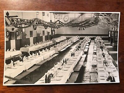 Military Dinner Set Up,  Karachi British India 1940s RP Postcard Ref046