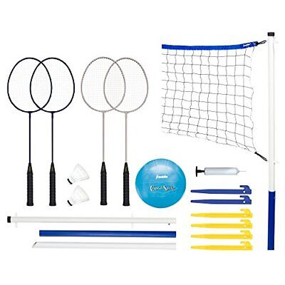 Franklin Sports Intermediate Badminton Set includes everything game Volleyball
