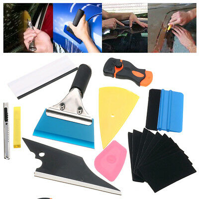Convenient 10 in 1 Car Window Tint Tools Kit Wrap Application Vinyl Squeegee