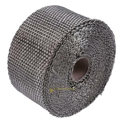 5m/16.4ft Thermal Exhaust Header Pipe Tape Wrap Heat Insulating Tape Titanium