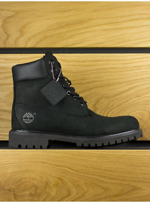 Timberland Black Leather Nubuck Premium 6 Inch Classic Boots Shoes NIB New Men's