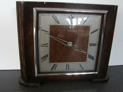 F101 Vintage SMITHS Mantle Clock in working order for spares and repairs as will