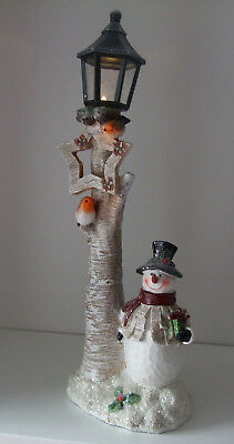 Snowman Light Up Lamp Battery Operated (inc) with Christmas Star