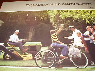"John Deere ""Lawn and Garden Tractors"" Sales Brochure 1978"