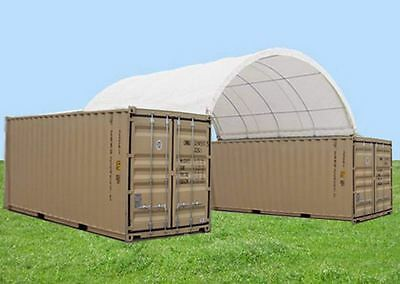 Industrial Shade Dome Containers  12.0m W x 12.0m L x 4.5m H  Heavy Duty