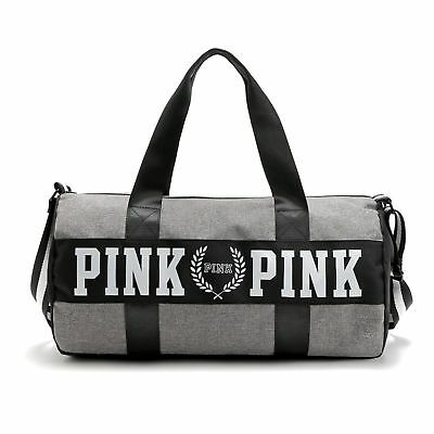 Women  VS Pink Large Capacity Travel Duffle Striped Waterproof Yoga  Bag