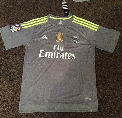 Adidas Real Madrid Away Shirt 2015/16 Cristiano ( Ronaldo 7 )Size U.K. M New