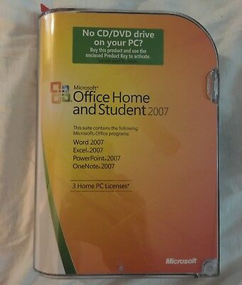 product key office 2007 home and student