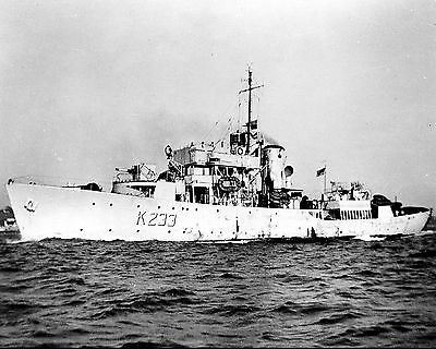 Royal Canadian Navy Corvette Hmcs Port Arthur K233 With Stats And History Sheet