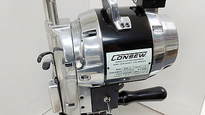 "Consew 918-8 Straight Knife Cloth and Fabric Cutting Machine 8"" Blade 110 Volt"