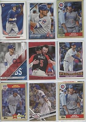 Kris Bryant Rookies, Inserts, Serial numbered & Stars Collection. Chicago Cubs