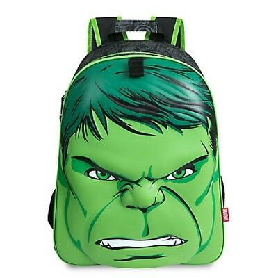 NWT Disney Store Marvel Avengers Hulk Backpack School Boys NEW The Hulk 3D Face