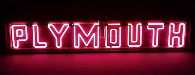 Vintage Original Plymouth Chrysler Dodge Large Neon Sign Auto Car Ready To Hang!