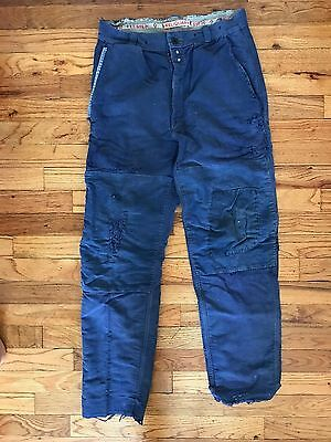 Vintage French Blue Pants with repairs - Great Pants From Mister Freedom