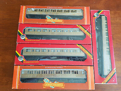 Hornby Teak Lner Gresley Coaches X 5 Excellent Condition Boxed Oo Gauge(Ch)