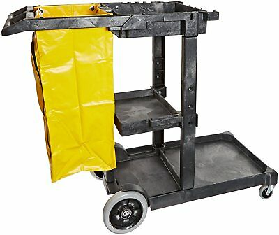 "Impact 6850 Janitor's Cart with 25-Gallon Yellow Vinyl Bag, Polyethylene, 48"" x"