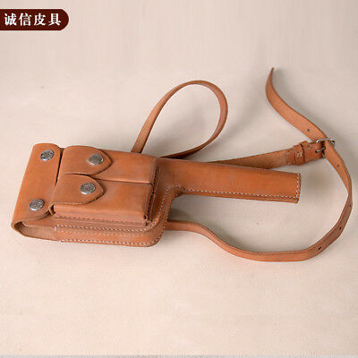 WW2 Chinese Version MAUSER BROOMHANDLE LEATHER HOLSTER STOCK