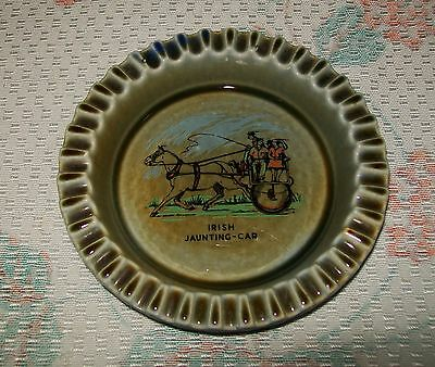 LARGE VINTAGE 'IRISH PORCELAIN' DISH/ASHTRAY (Irish Jaunting Car design)