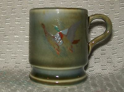 VINTAGE 'IRISH PORCELAIN' MINIATURE MUG (2 flying ducks design)