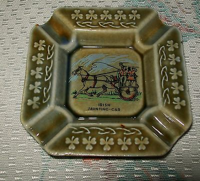 VINTAGE 'IRISH PORCELAIN' ASHTRAY (Irish Jaunting Car design)