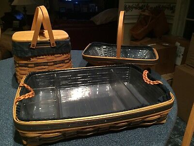 Longaberger: Collector's Club - Serving Tray, Harbor Basket, & Gate