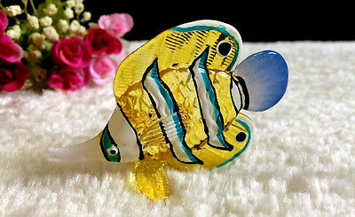 Fish Hand Blown Glass Miniature Animal Figurine Collectible Gift Home Decor Ye