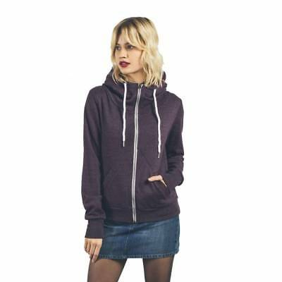 Sweat Volcom Walk On By Zip femme plum