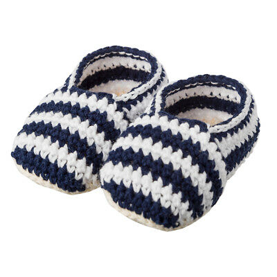 NEW Tippy Toes Baby Booties Navy/White Stripes
