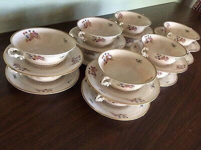 Syracuse China Old Ivory Coventry Set 12 Footed Bowls And Plates