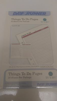 Day-Runner Things To Do Refill Pad 5.5 x 8.5 011-232 - 30 sheets