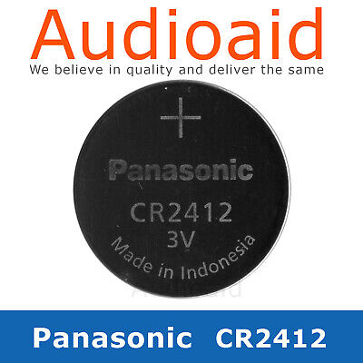 Panasonic CR2412 3.0V Lithium Coin Battery - Select your Quantity (2019 stock)