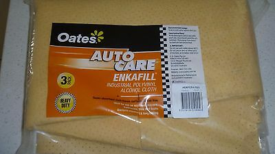 3 x Chamois Oates Enkafill Industrial Professional Perforated 17ltr  72cmx54cm