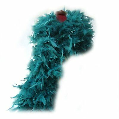 SACAS 100g Teal Feather Chandelle Boa 72inch Long Halloween Pary Costume