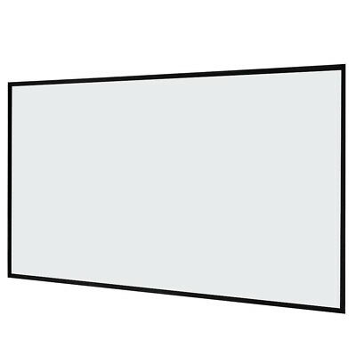 """Clear 87"""" x 49""""Collapsible Film Movie Projection Projector Screen Matte W2S9"""