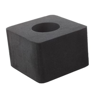 1x Mic Interview ABS Logo Flag Cube Square Station 4 Sided Break Black BF