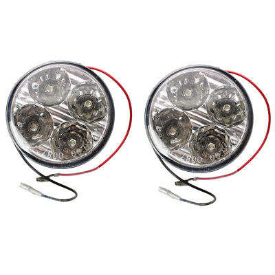 2x4W LED White Light Daytime Fog 4 High Power DC 12V Car C6L5