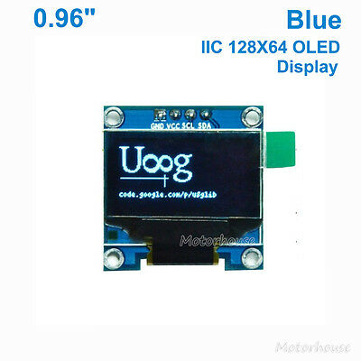 "Blue 0.96"" I2C IIC 128*64 OLED LCD LED Display Module Screen SSD1306 For Arduino"