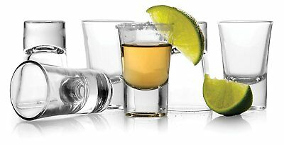 New Set Of 6 Vodka Shooters Clear Crystal Shot Drinking Glass Party Glasses 1 Oz