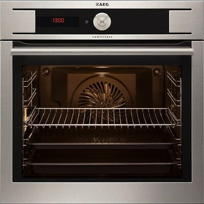 AEG BY931460KM Built In Pyroluxe Electric Single Oven Stainless Steel FA8634