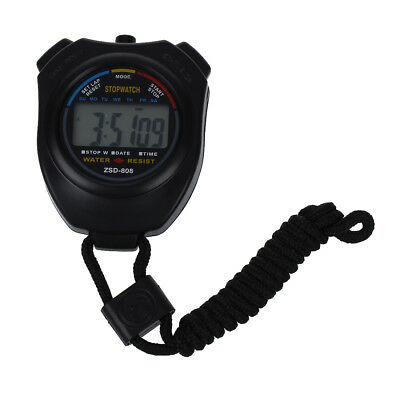 Hot Sale Practical Digital Chronograph Sports Stopwatch with Neck Strap E7I9