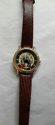 DISNEY TIME WORKS Ladies Watch ~ Mickey Mouse and Castle Walt Disney World