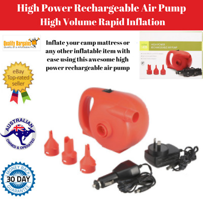 Rechargeable High Power Air Pump for Inflatable Mattress Toy Sofa Bed Camping